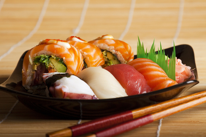 Една хапка суши = 4 филии хляб