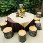 Да разкрасим масите си с декорация от пънчета на дървета