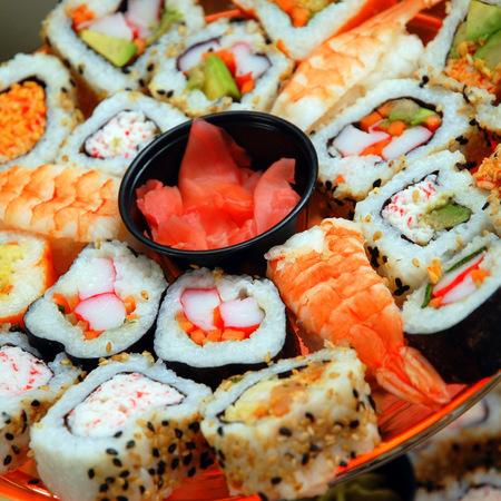 Large buket ot sushi