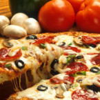 Пица с гъби и салам