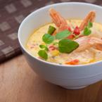 Супа от сьомга и скариди