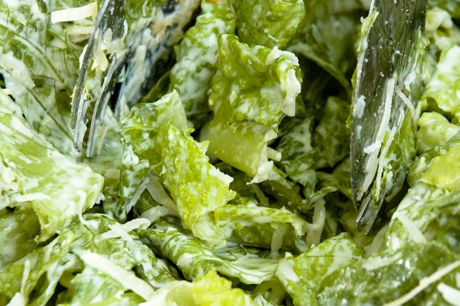 Зелена салата с майонеза