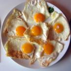 Яйца на очи