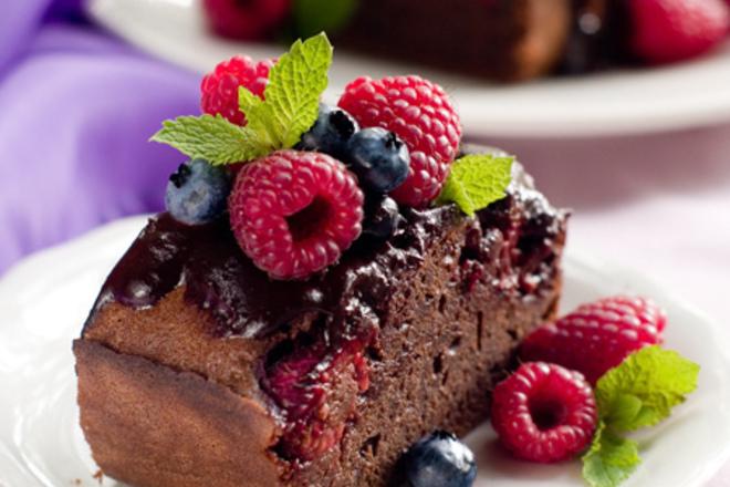 Шоколадов кекс с вино