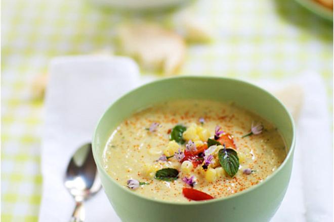 Супа с царевица и шунка
