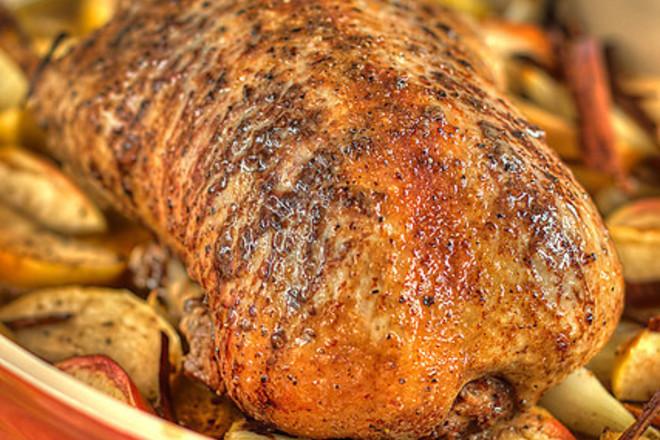 Печено пиле със зеленчуци