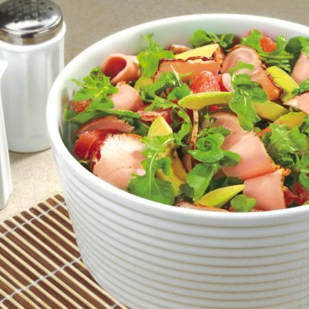 Large salata s pechen delikates avokado i greypfrut