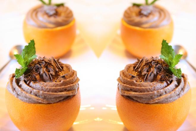 Шоколадов мус в портокал