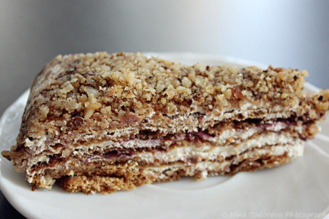 Френска селска торта с боровинки