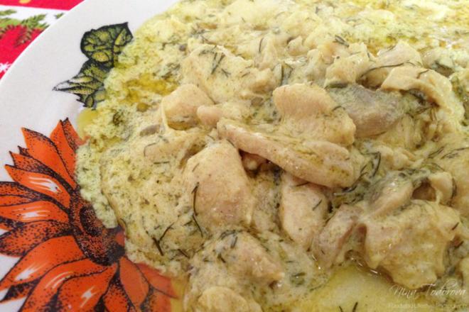 Пиле по дижонски