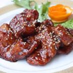Панирано пилешко месо в сладко-кисел сос по китайски