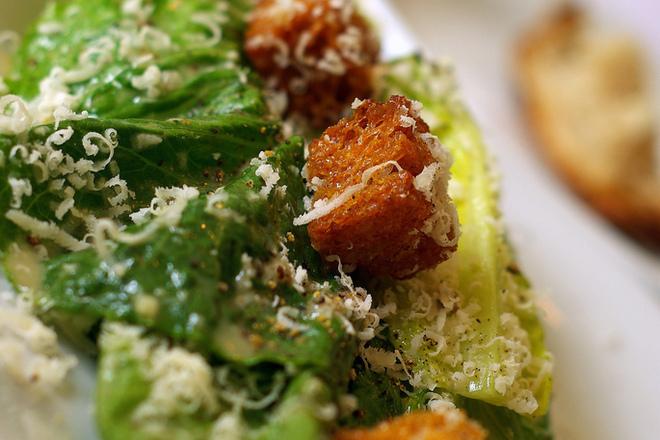 Зелена салата с пармезан