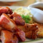 Печени свински късчета