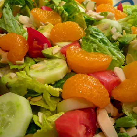 Large svezha salata s portokal