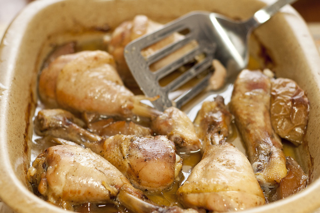 Пилешки бутчета в масло