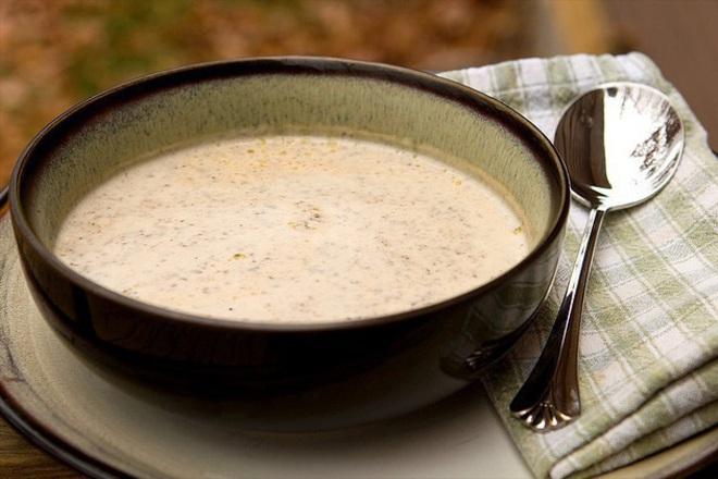 Крем супа с диви гъби