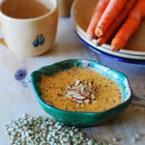 Крем супа от червена леща с моркови