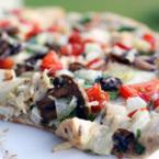 Пица със сметана, пиле и чесън