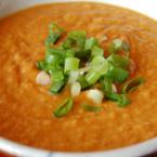 Крем супа от тиква с пресен лук