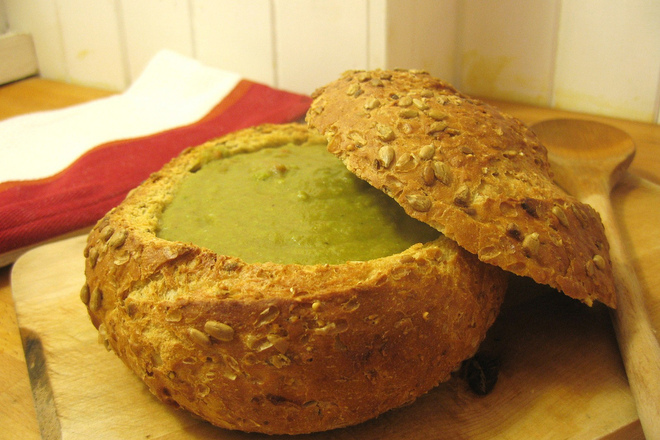 Крем супа от грах с броколи