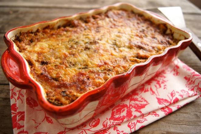 Зеленчукова лазаня със сос бешамел