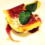 Чийзкейк със сладко от ягоди