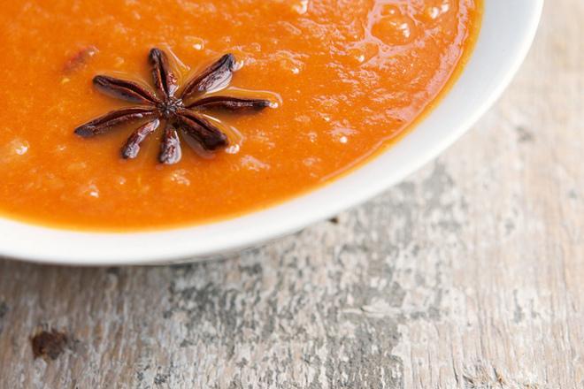 Крем супа от моркови с кимион