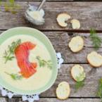 Крем супа от карфиол със сьомга