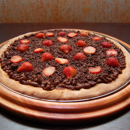 Large shokoladova pitsa