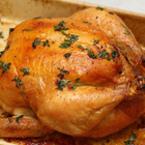 Печено пиле с пикантна орехова плънка