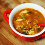 Пилешка супа с макарони и грах