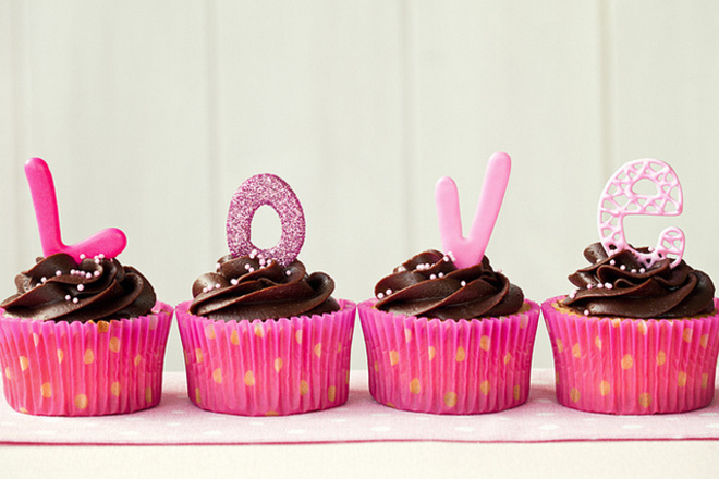 Шоколадови мъфини за Свети Валентин