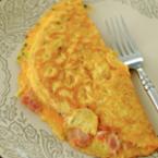Омлет със сьомга и крема сирене