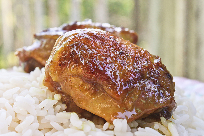 Печено пиле с ориз