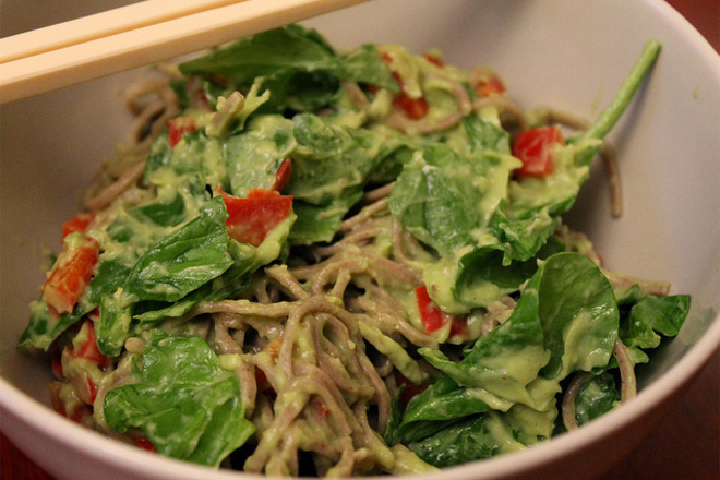 Спагети с авокадо