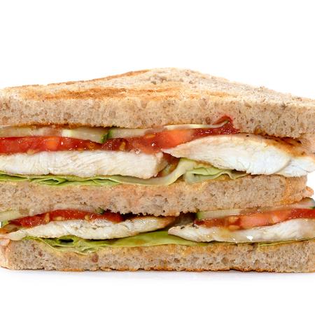 Large klub sandvich s pile