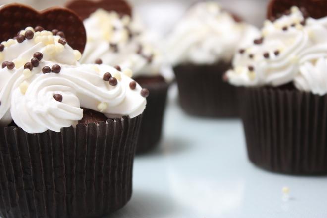 Шоколадови мъфини с кола