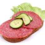 Сандвич с луканков салам