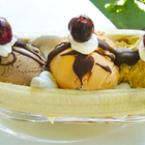 Бананов сплит с грозде