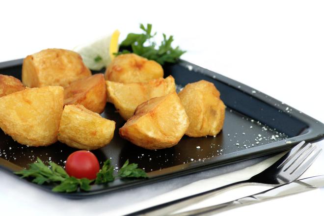 Печени картофи с хималайска сол и масло