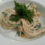Спагети със сметана и рукола