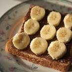 Филия с шоколад и банан
