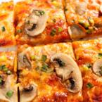 Пица с гъби и зелен лук