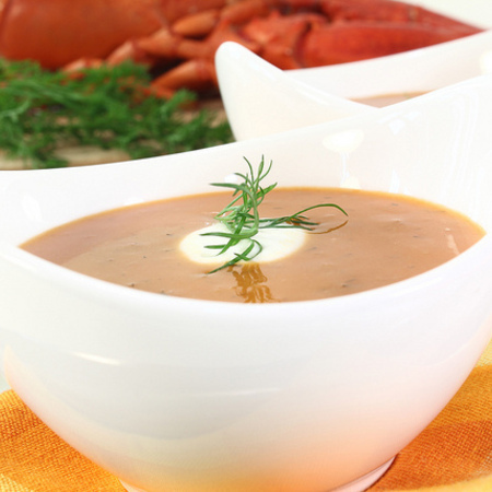 Large zelenchukova krem supa s rozmarin