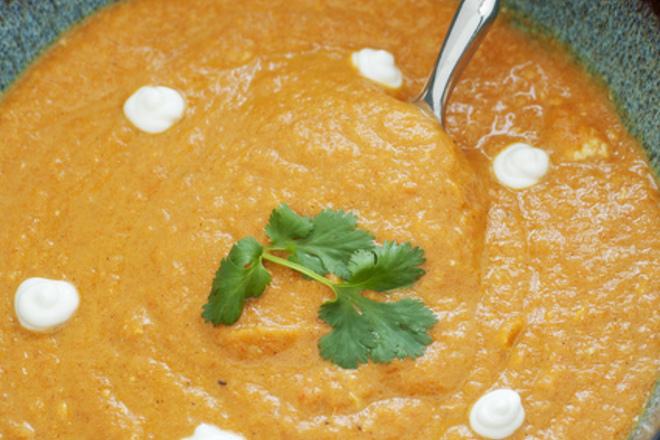 Пюре от моркови с кокосово мляко