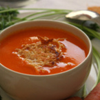 Доматена крем супа с моркови