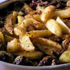 Печени картофи с чушки и кашкавал