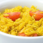 Ориз с шафран и чери домати