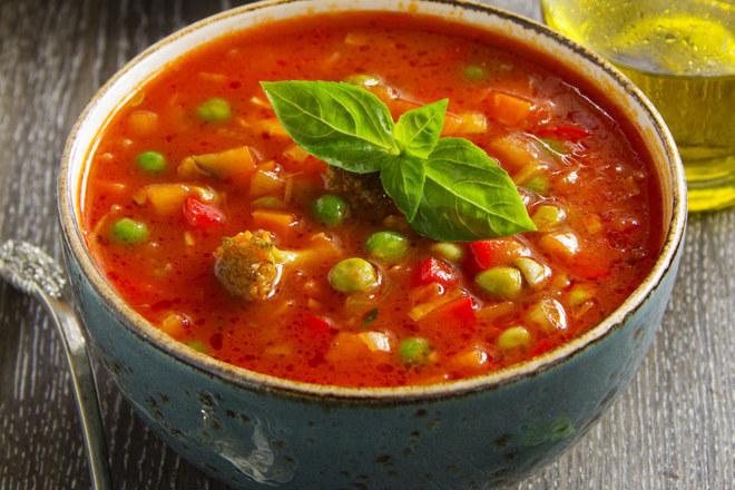 Рибена супа с грах
