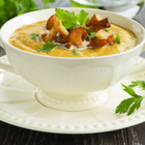Крем супа от моркови с гъби